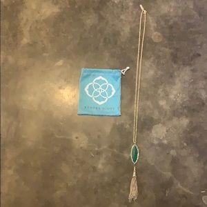 Long diamond shaped pendant Kendra Scott necklace